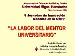 La labor del mentor universitario