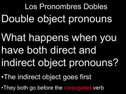 Los Pronombres Directos