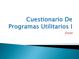 Cuestionario De Programas Utilitarios I