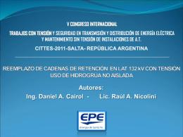 REEMPLAZO CADENAS DE RETENCIÓN EN LAT 132 kV