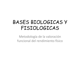 Power Point BASES BIOLOGICAS Y FISIOLOGICAS Parte 1