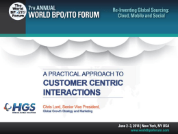 World ITO BPO Forum