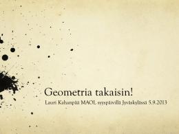 Geometria takaisin! - MAOL Keski