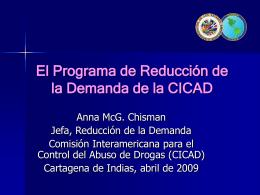 El Programa de Reducción de la Demanda de la CICAD