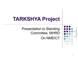 TARKSHYA Project