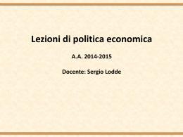 lezioni politica economica modulo A