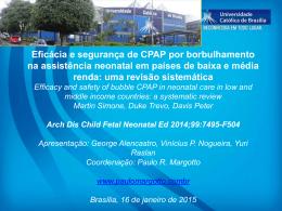 Eficácia e segurança de CPAP por borbulhamento na assistência