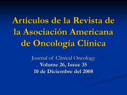 Artículos de la Revista de la Asociación Americana de Oncología