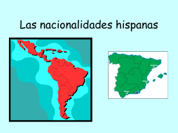Las nacionalidades hispanas