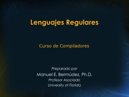 Lenguajes Regulares - University of Florida
