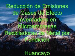 Reducción de Emisiones de Gases de Efecto Invernadero en