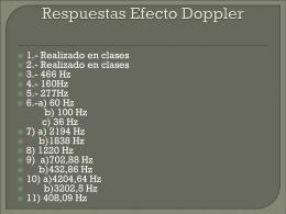 Respuestas Efecto Doppler