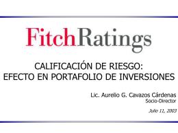 Calificación de Riesgo - (FIAP) Federación Internacional de
