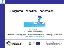 El Programa Específico Cooperación