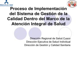 Proceso de Implementación del Sistema de