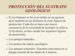PROTECCION DEL SUSTRATO GEOLÓGICO