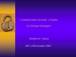 Productividad, Competitividad y Empleo Un Enfoque Estratégico