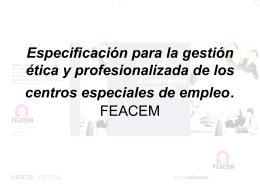 Presentación Especificación para la gestión ética y