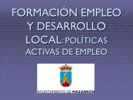 Políticas Activas de Empleo del Ayuntamiento de Mazarrón