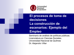Tema empleo - Universidad Nacional de Quilmes