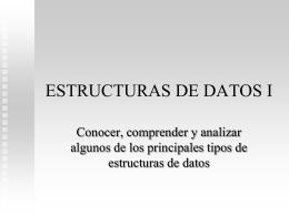 ESTRUCTURAS DE DATOS I - erwin