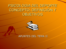 psicologia del deporte concepto, definición y objetivos