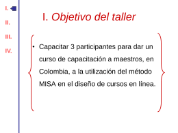 I. Objetivo del taller - Centre de recherche LICEF Research center