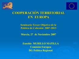 Presentación del Tercer Objetivo de la Política de Cohesión