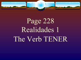 The Verb TENER - FunSpanishlearning