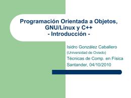 Programación Orienta.. - Universidad de Oviedo