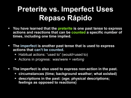 10.1 The imperfect tense