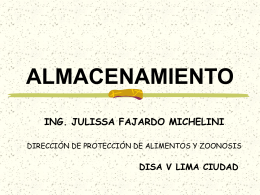 ALMACENAMIENTO - (DISA) IV Lima Este