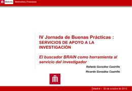 El buscador BRAIN como herramienta al servicio del investigador