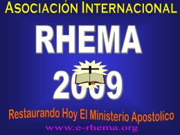 X - Asociación Internacional RHEMA