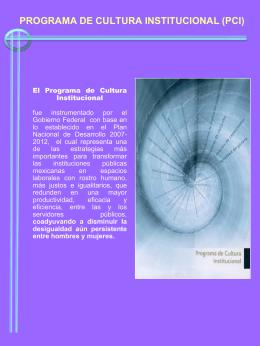 El Programa de Cultura Institucional