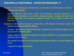pedagogía diferencial 1º de grado de educación social. 2º