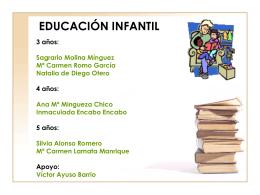 EDUCACIÓN INFANTIL 3 años - ceip manuel ruiz zorrilla