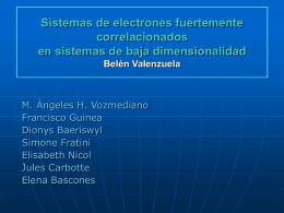 Sistemas de electrones fuertemente correlacionados
