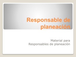 Responsable de planeación - Provincia Marista de México Occidental