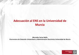 Adecuación al ENS en la Universidad de Murcia - CRUE-TIC