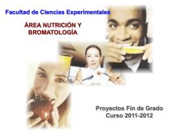 Área de Nutrición y Bromatología