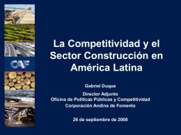 La Competitividad y el Sector Construcción en América Latina