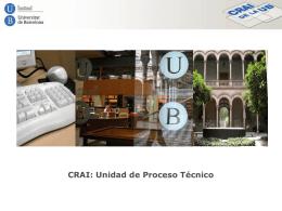 Unidad de Proceso Técnico - Dipòsit Digital de la UB