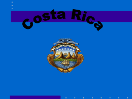 Costa Rica. División territorial y política