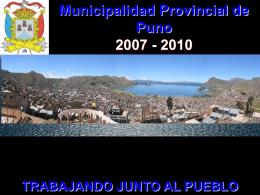 Palabras del Sr. Alcalde de Puno.