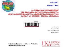 Informe completo de IDESPO sobre política local y la revisión