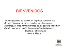 Gustavo Petro Urrego Alcalde Mayor