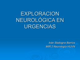 EXPLORACION NEUROLÓGICA EN URGENCIAS - Aula-MIR