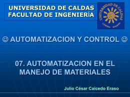 7.Automatización en el manejo de materiales