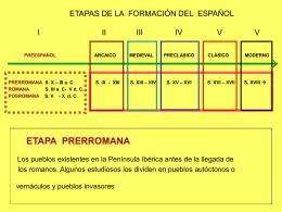 ETAPAS DE LA FORMACIÓN DEL ESPAÑOL